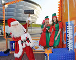 Santa at the Iron Brew Carnival Launch at the SECC Glasgow